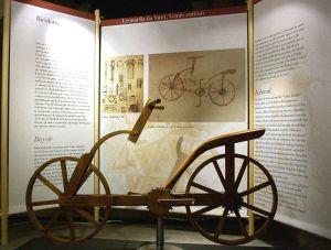 Boceto de la bicicleta de Leonardo Da Vinci